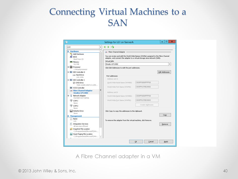 Connecting Virtual Machines to a SAN