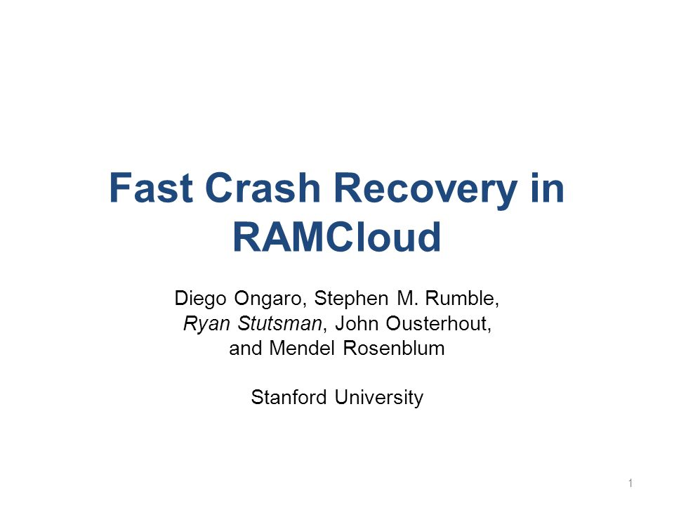 Fast Crash Recovery in RAMCloud