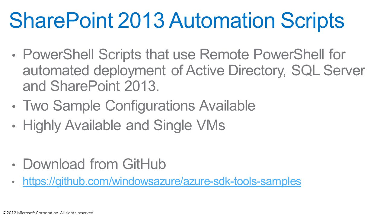 SharePoint 2013 Automation Scripts