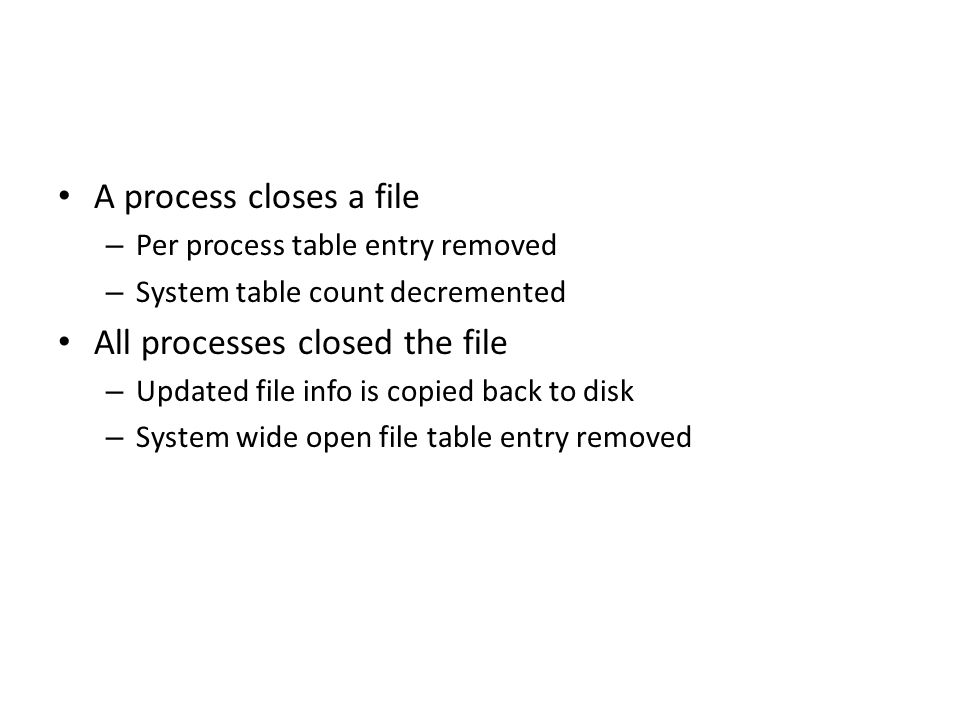 All processes closed the file