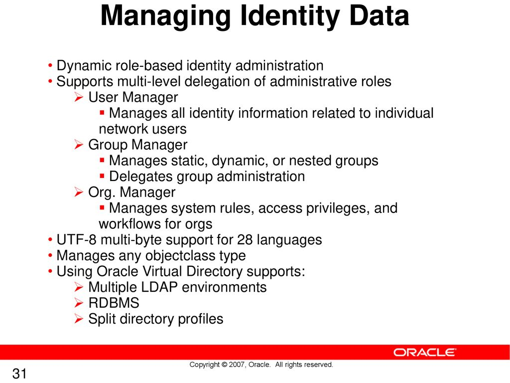 """Oracle Access Manager 10gR3 Technical """"Deep Dive"""