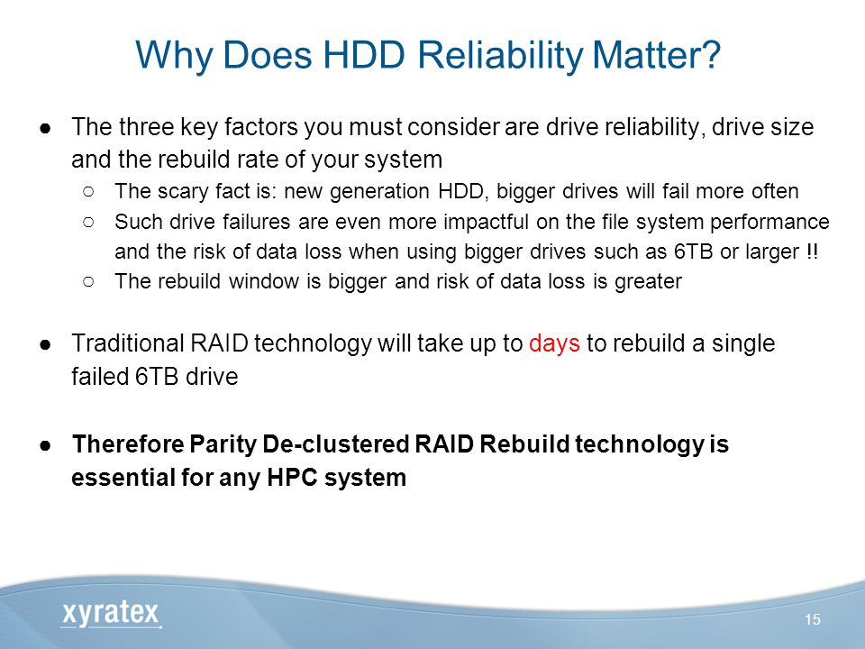Why Does HDD Reliability Matter