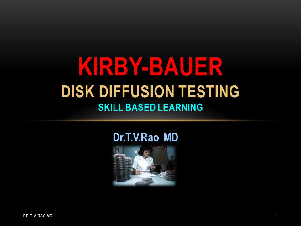 Kirby-Bauer disk diffusion Testing skill based learning