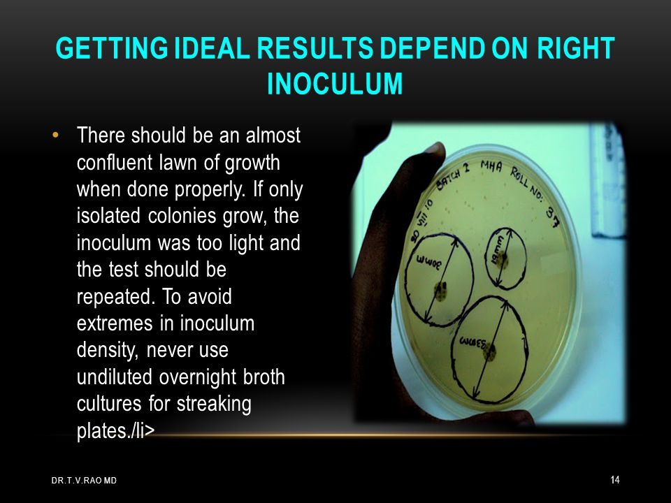 Getting ideal results depend on right inoculum
