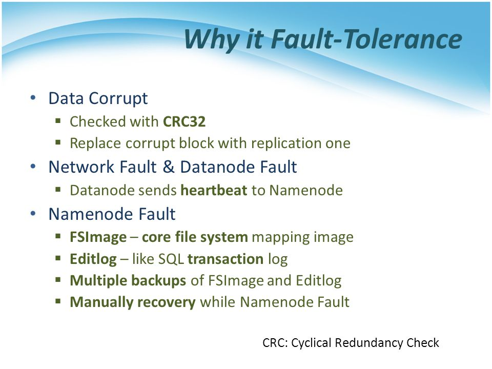 Why it Fault-Tolerance