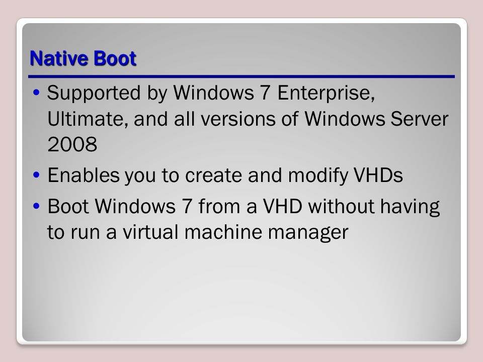Enables you to create and modify VHDs
