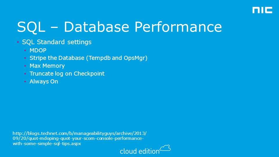 SQL – Database Performance