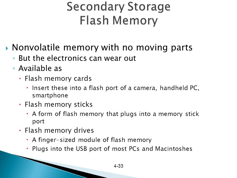 Secondary Storage Flash Memory