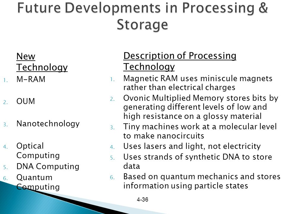 Future Developments in Processing & Storage