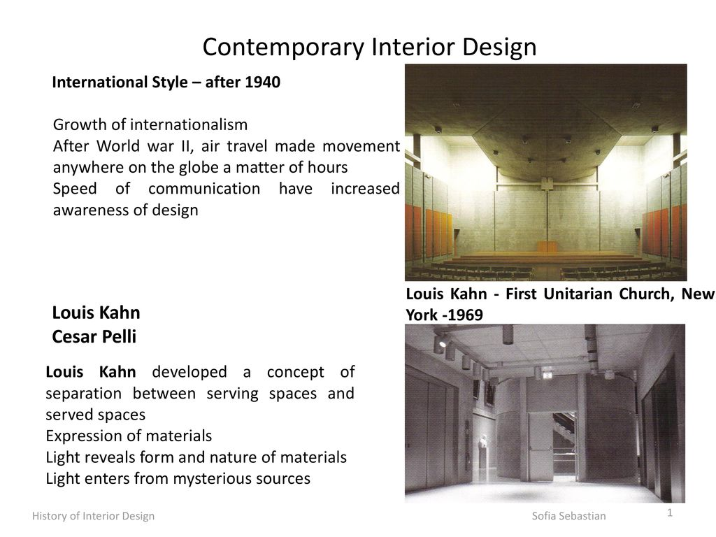 Contemporary Interior Design Ppt Download