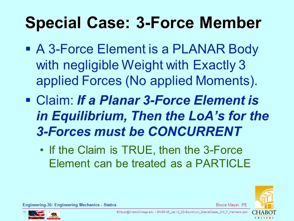 Special Case: 3-Force Member