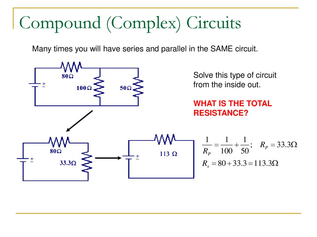 Electric Circuits Physics Ppt Download Overview Of Series And Parallel Types Electrical Compound Complex