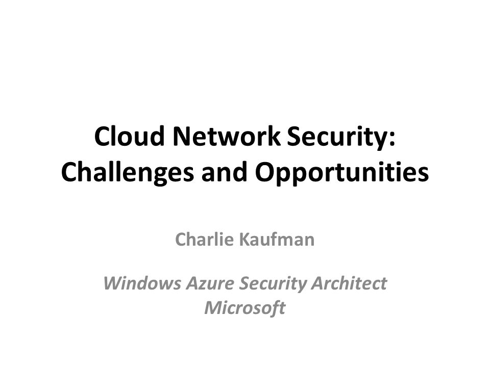 Cloud Network Security: Challenges and Opportunities