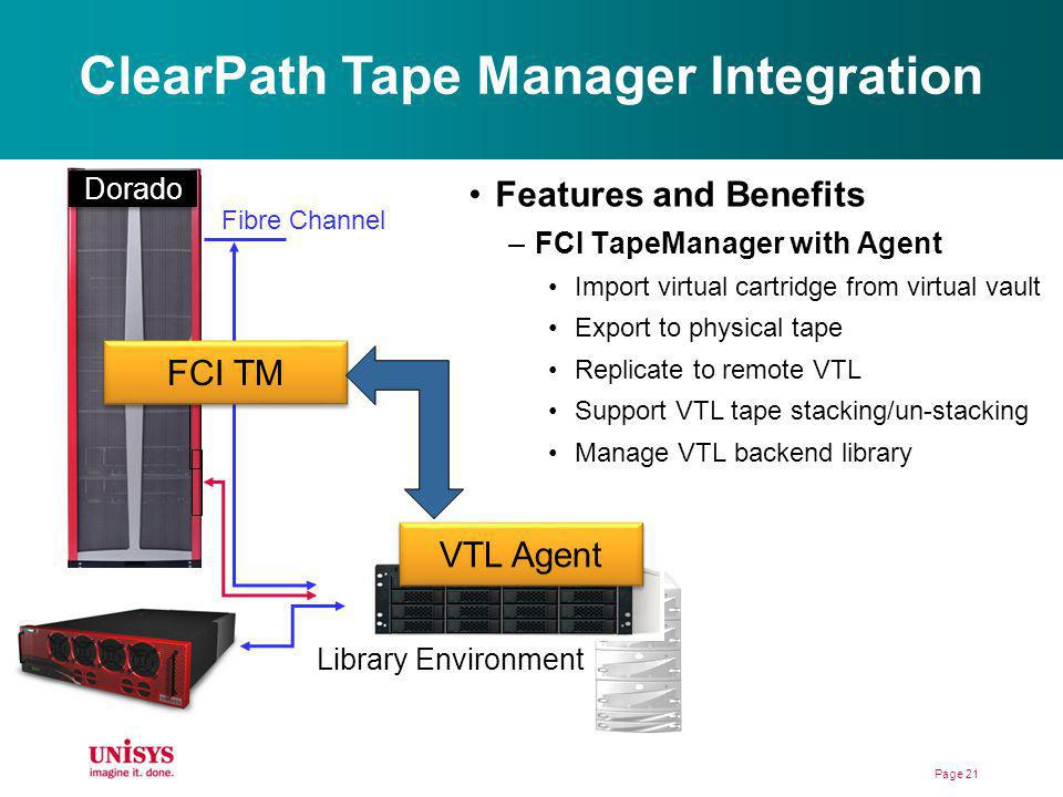 ClearPath Tape Manager Integration