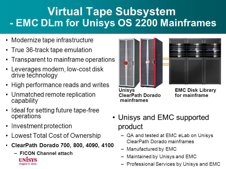 Virtual Tape Subsystem - EMC DLm for Unisys OS 2200 Mainframes