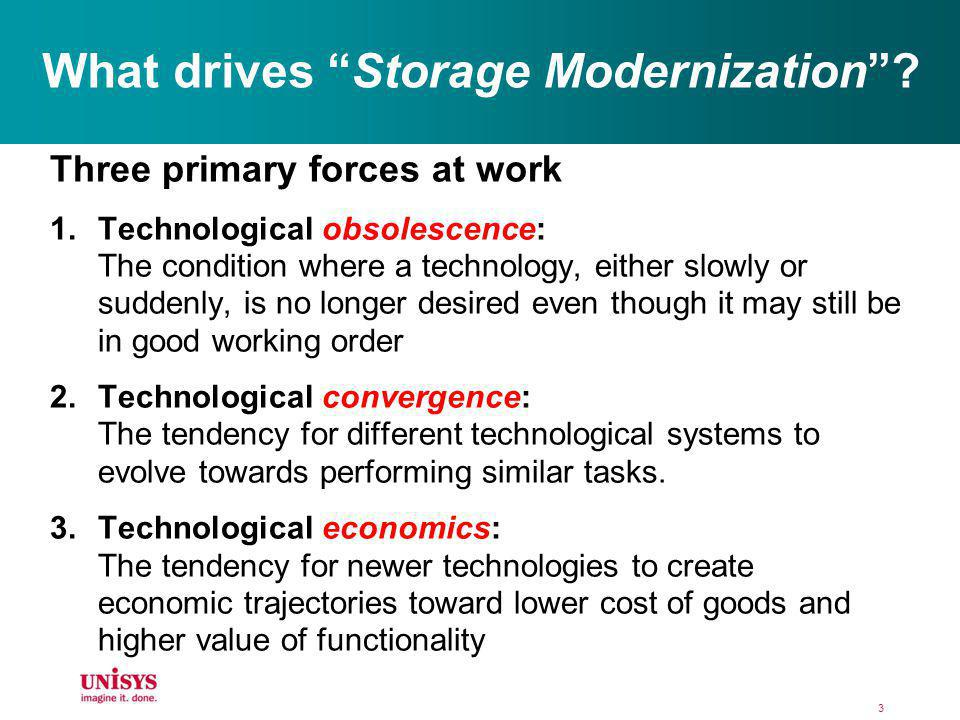 What drives Storage Modernization