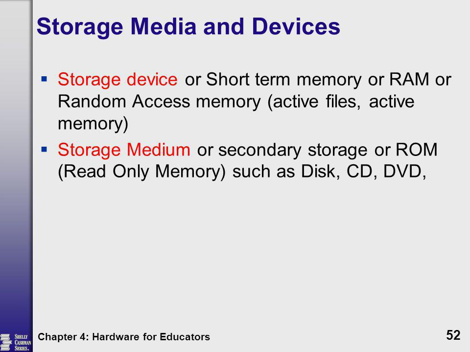 Storage Media and Devices