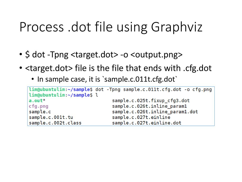 Generating Control-Flow Graph using Open-Source S/W - ppt