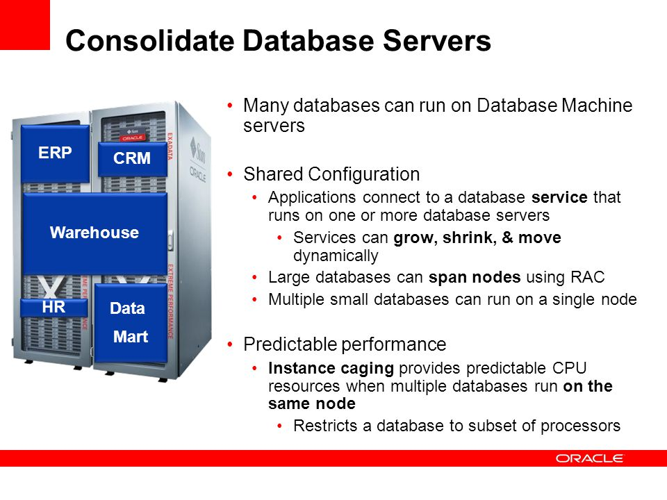 Consolidate Database Servers