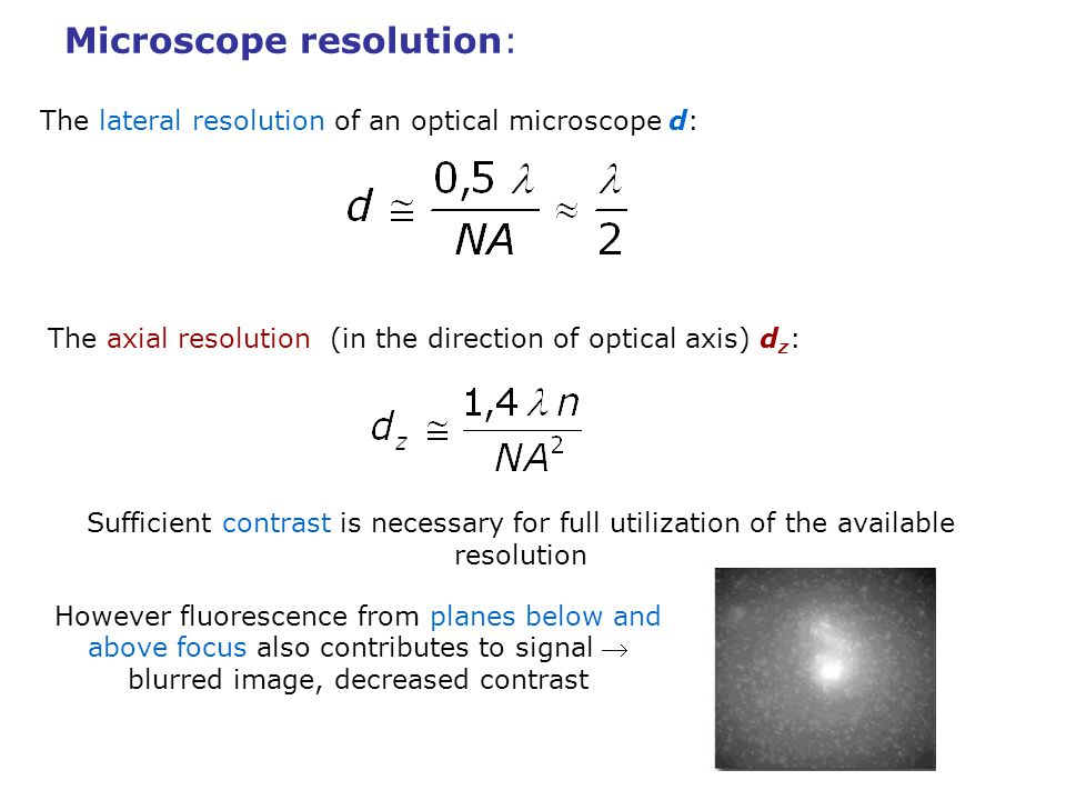 Microscope resolution: