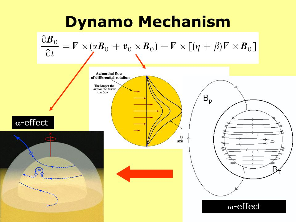 Dynamo Mechanism Bp -effect BT -effect