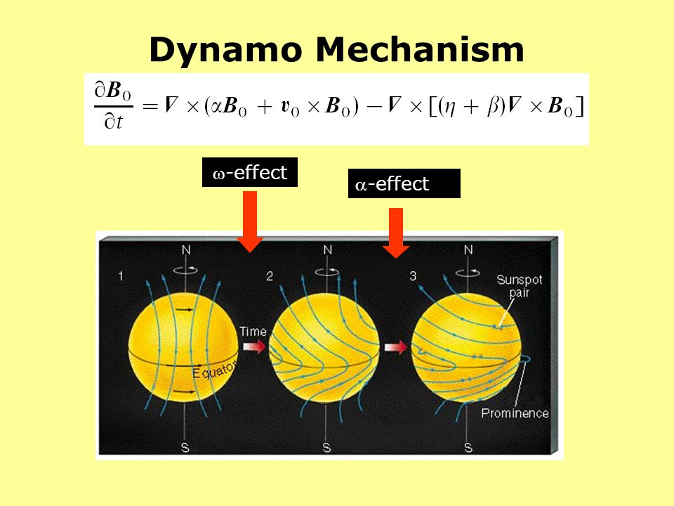 Dynamo Mechanism -effect -effect