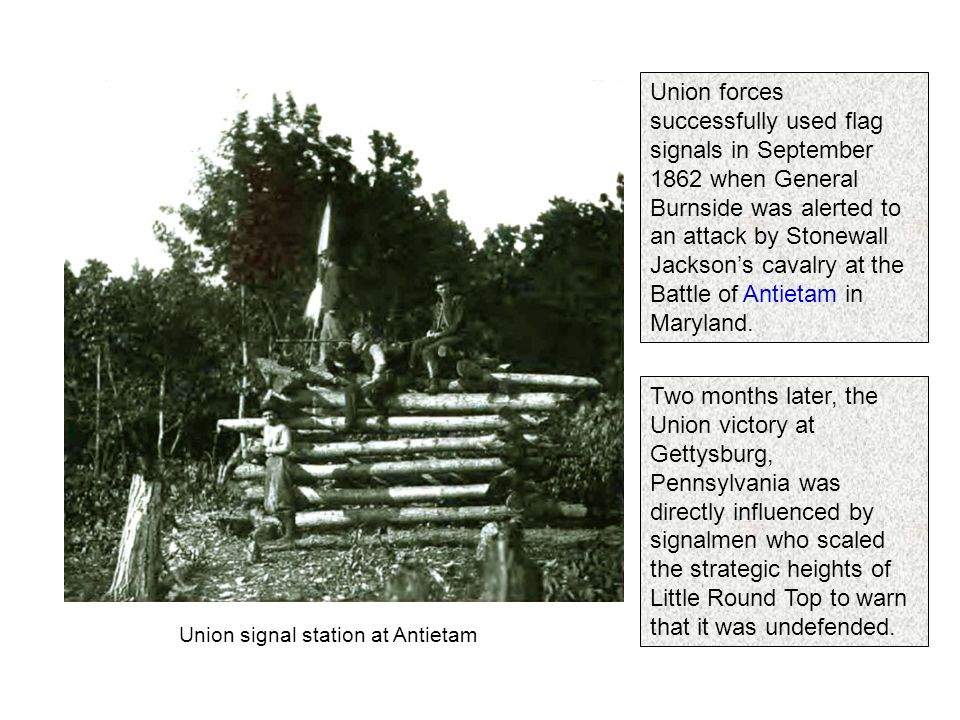 Battlefield communication during the civil war ppt video online union signal station at antietam publicscrutiny Image collections