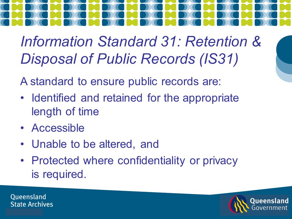 Information Standard 31: Retention & Disposal of Public Records (IS31)
