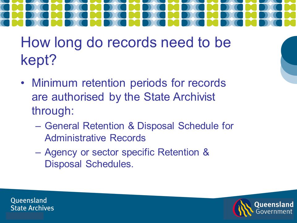 How long do records need to be kept