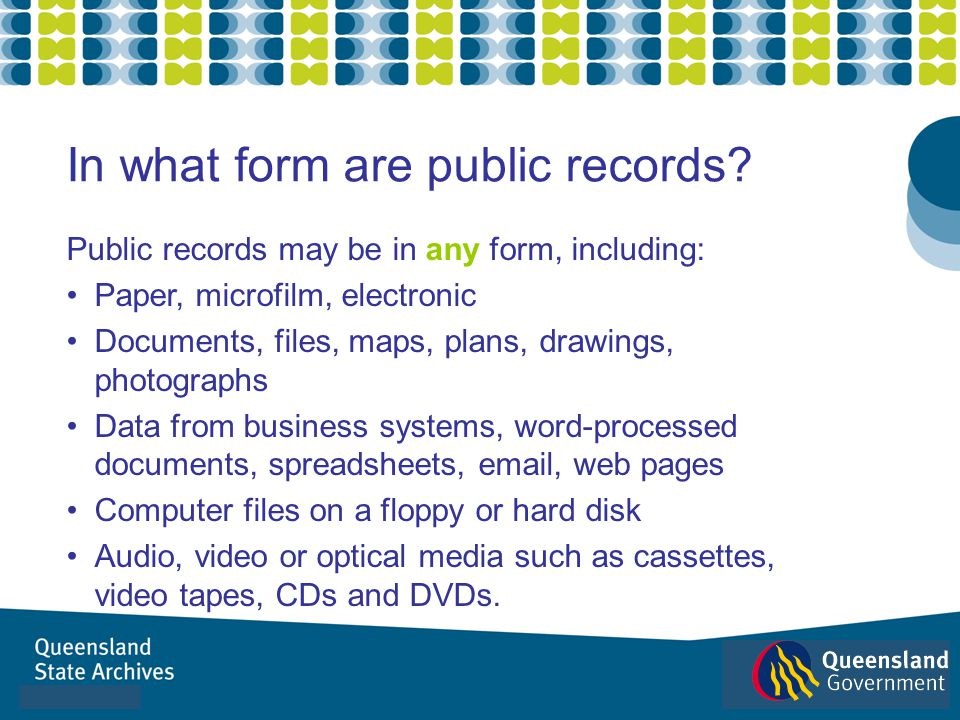 In what form are public records