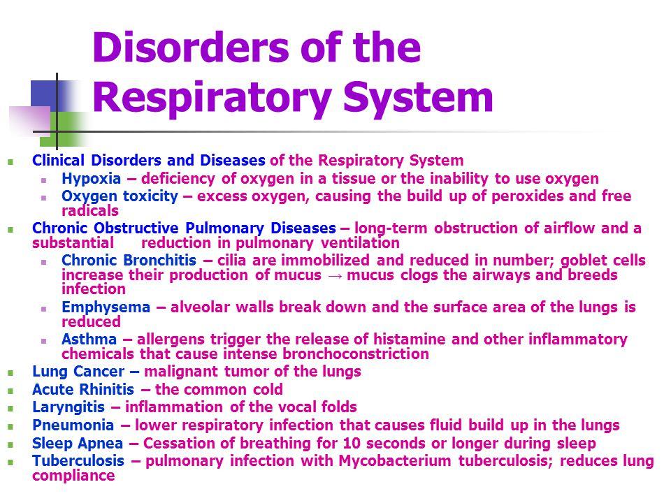 Respiratory diseases.