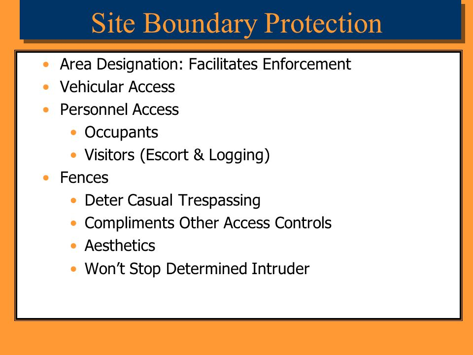 Site Boundary Protection