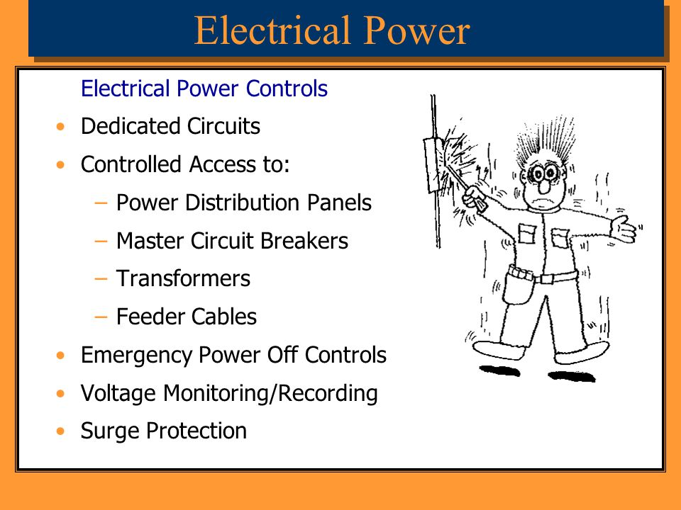 Electrical Power Electrical Power Controls Dedicated Circuits