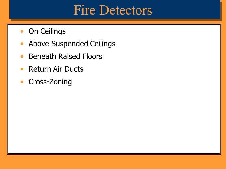 Fire Detectors On Ceilings Above Suspended Ceilings