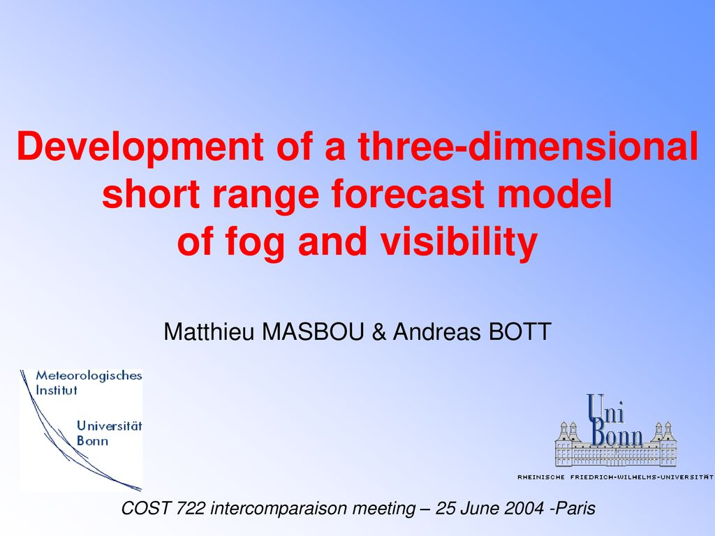 Development of a three-dimensional short range forecast model
