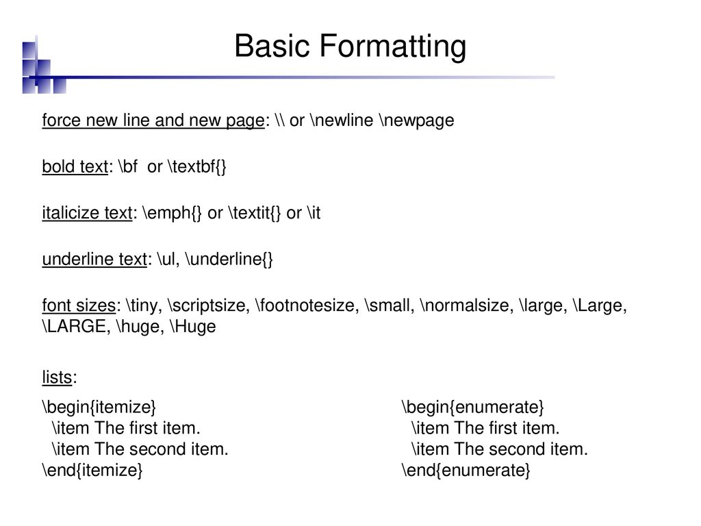 An Introduction to the LaTex typesetting system - ppt download