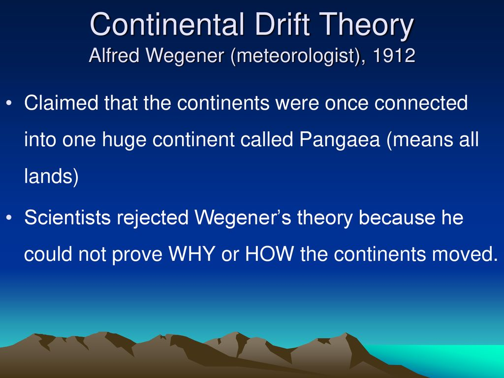 Theory Of Continental Drift Definition