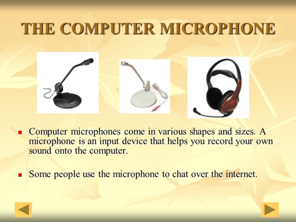 THE COMPUTER MICROPHONE