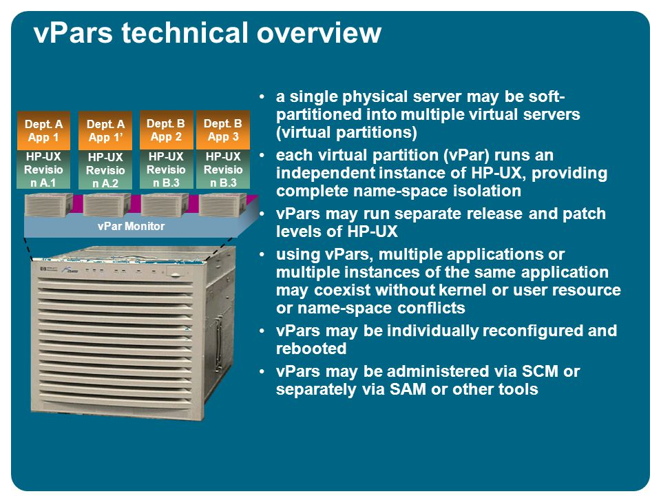 vPars technical overview