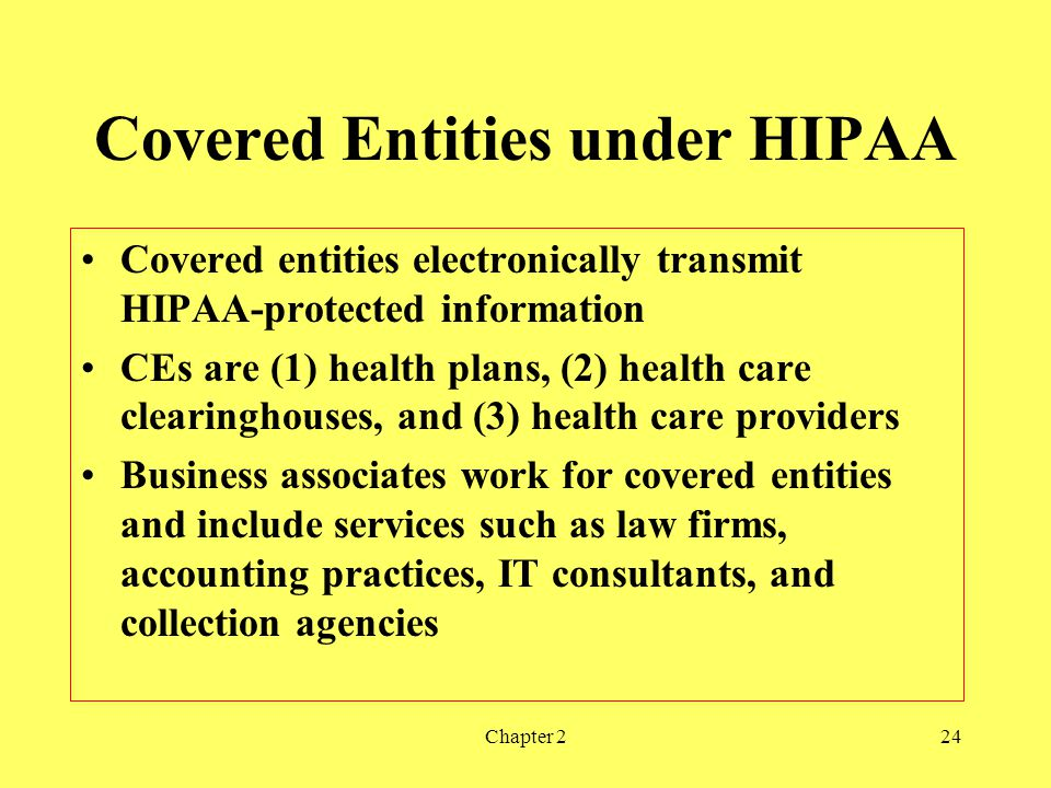 Covered Entities under HIPAA