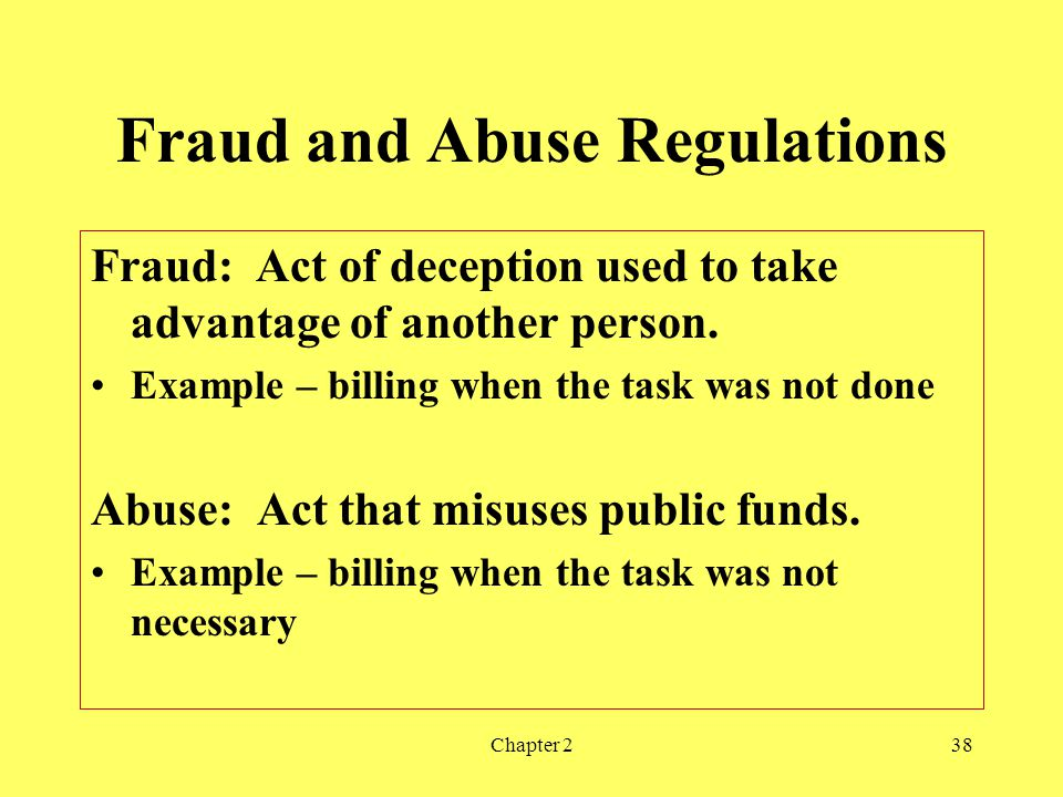 Fraud and Abuse Regulations