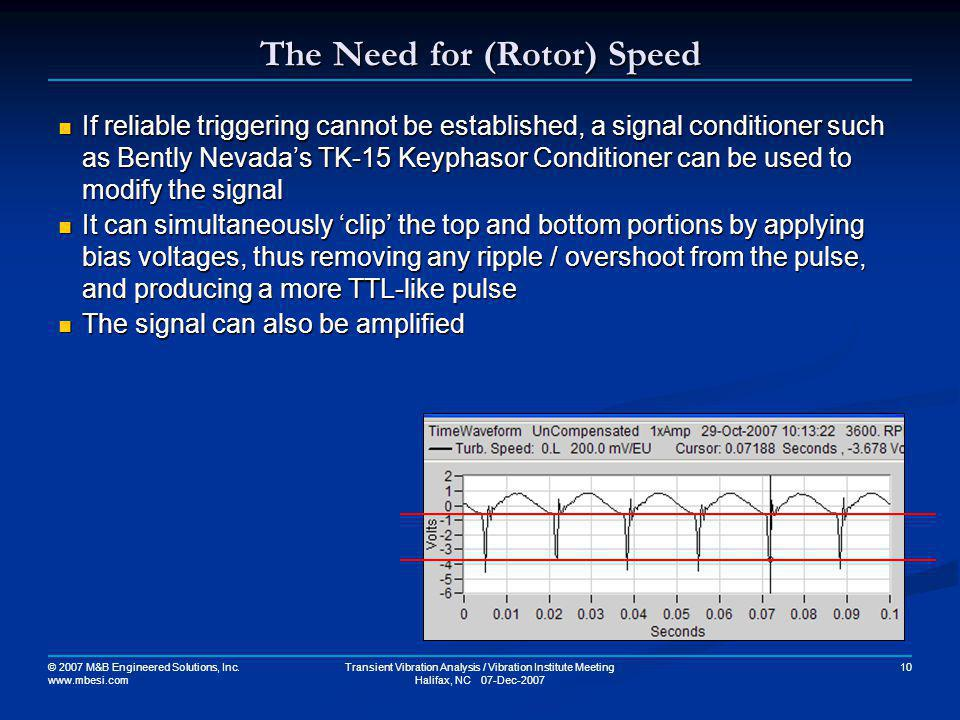 The Need for (Rotor) Speed