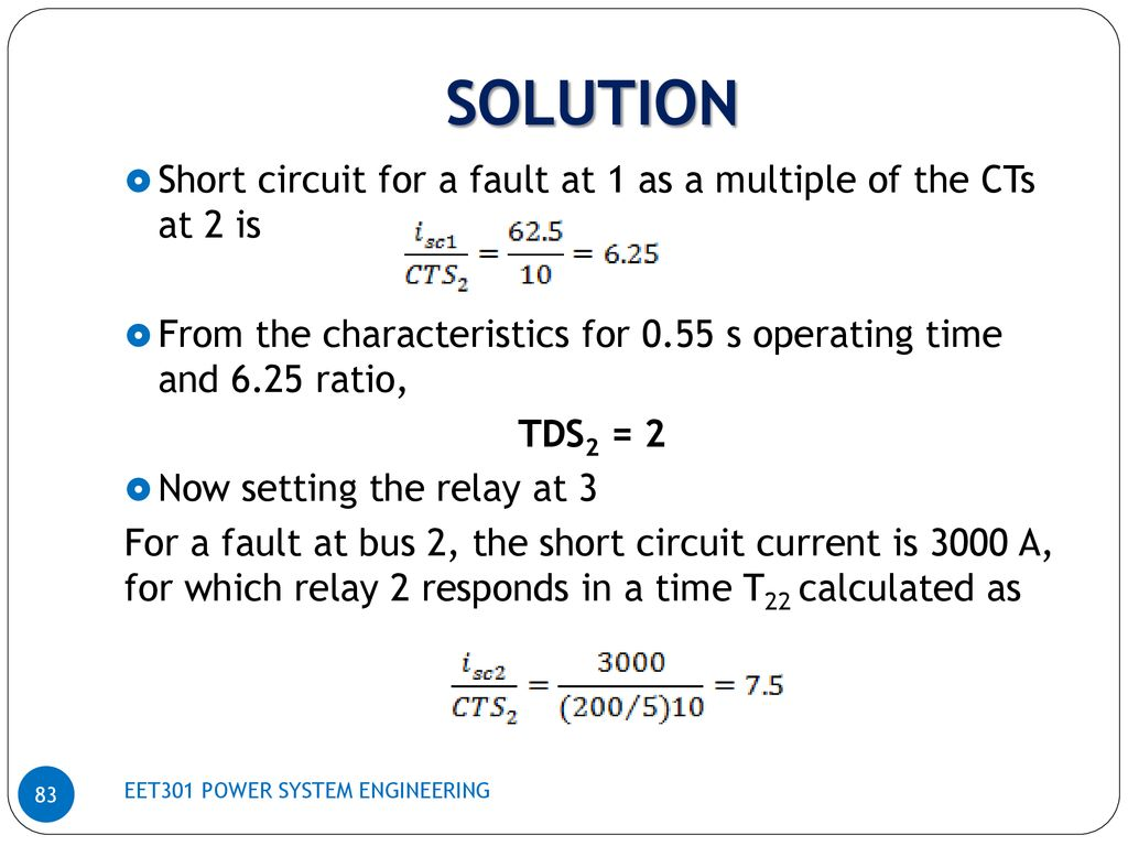 Power System Engineering Ppt Download Current Relay Characteristics 83 Solution