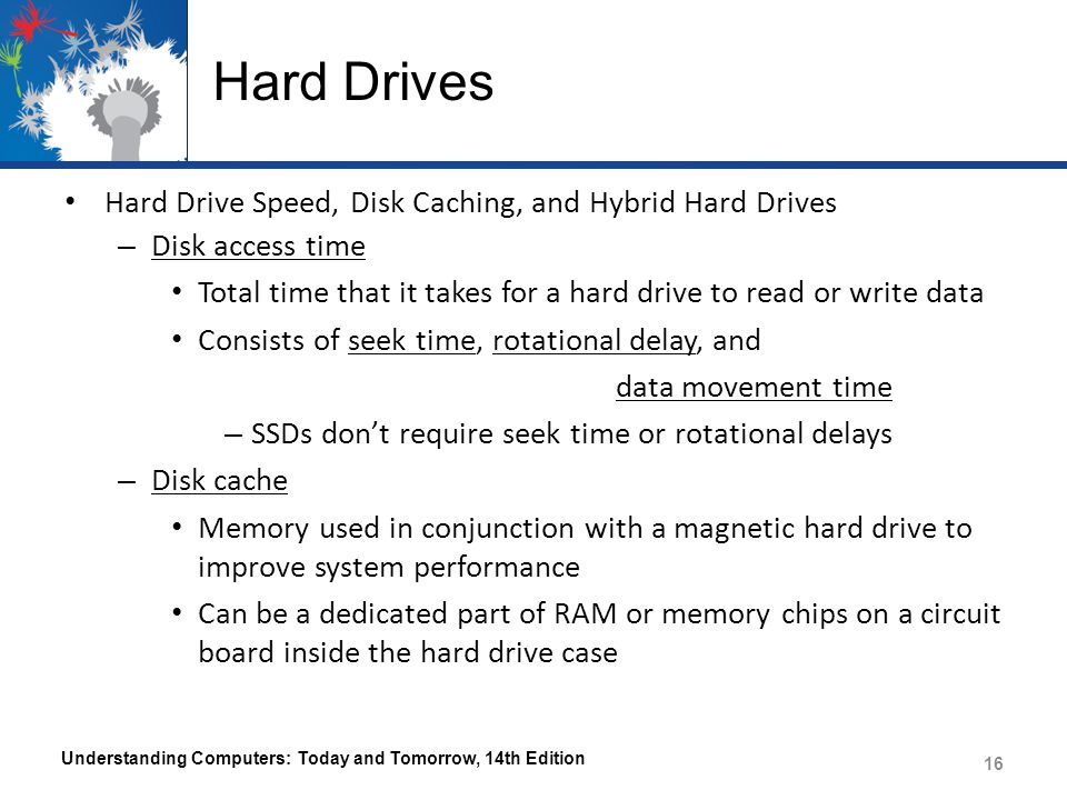 Hard Drives Hard Drive Speed, Disk Caching, and Hybrid Hard Drives