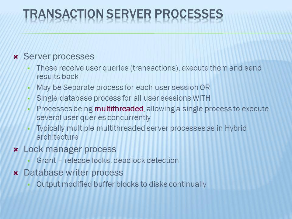 Transaction Server Processes