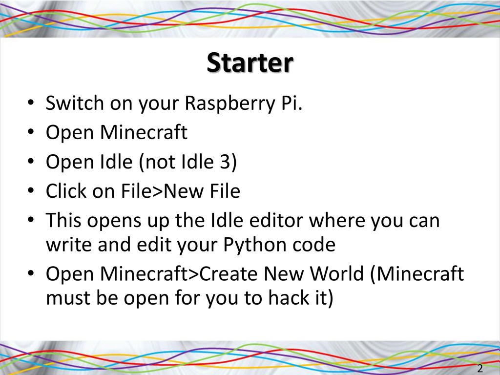 Hacking Minecraft on the Raspberry Pi using Python - ppt download