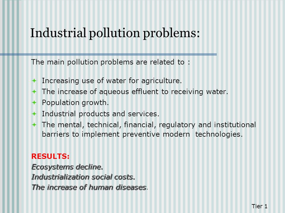 Industrial pollution problems: