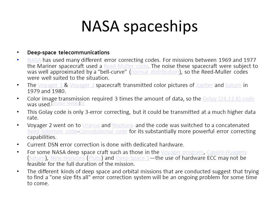 NASA spaceships Deep-space telecommunications