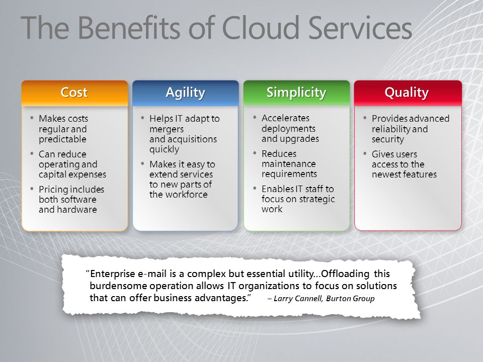 The Benefits of Cloud Services