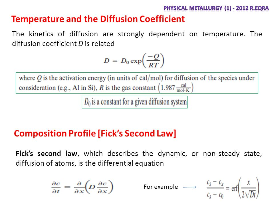 Temperature and the Diffusion Coefficient